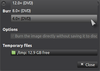 Burn ISO's at the slowest possible speed - Tips & Tricks - Ubuntu