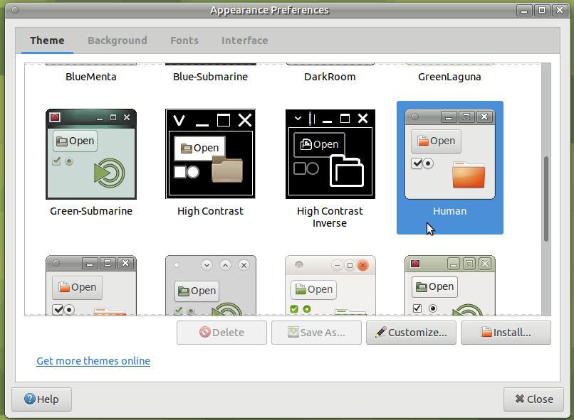 Problems with GTK2 themes (such as human-theme) on Ubuntu