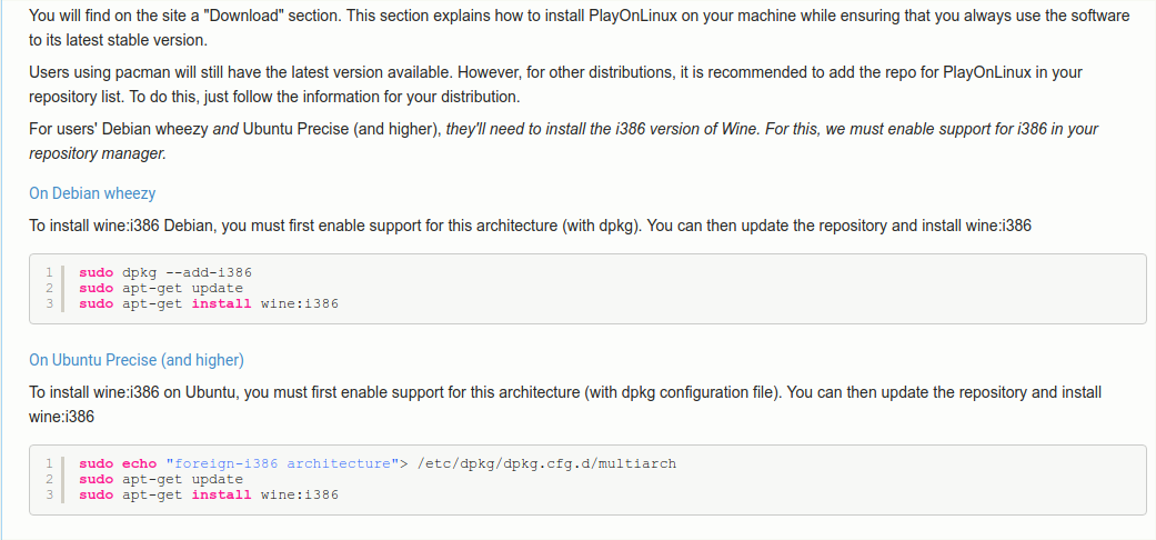 Installing playonlinux - Support & Help Requests - Ubuntu