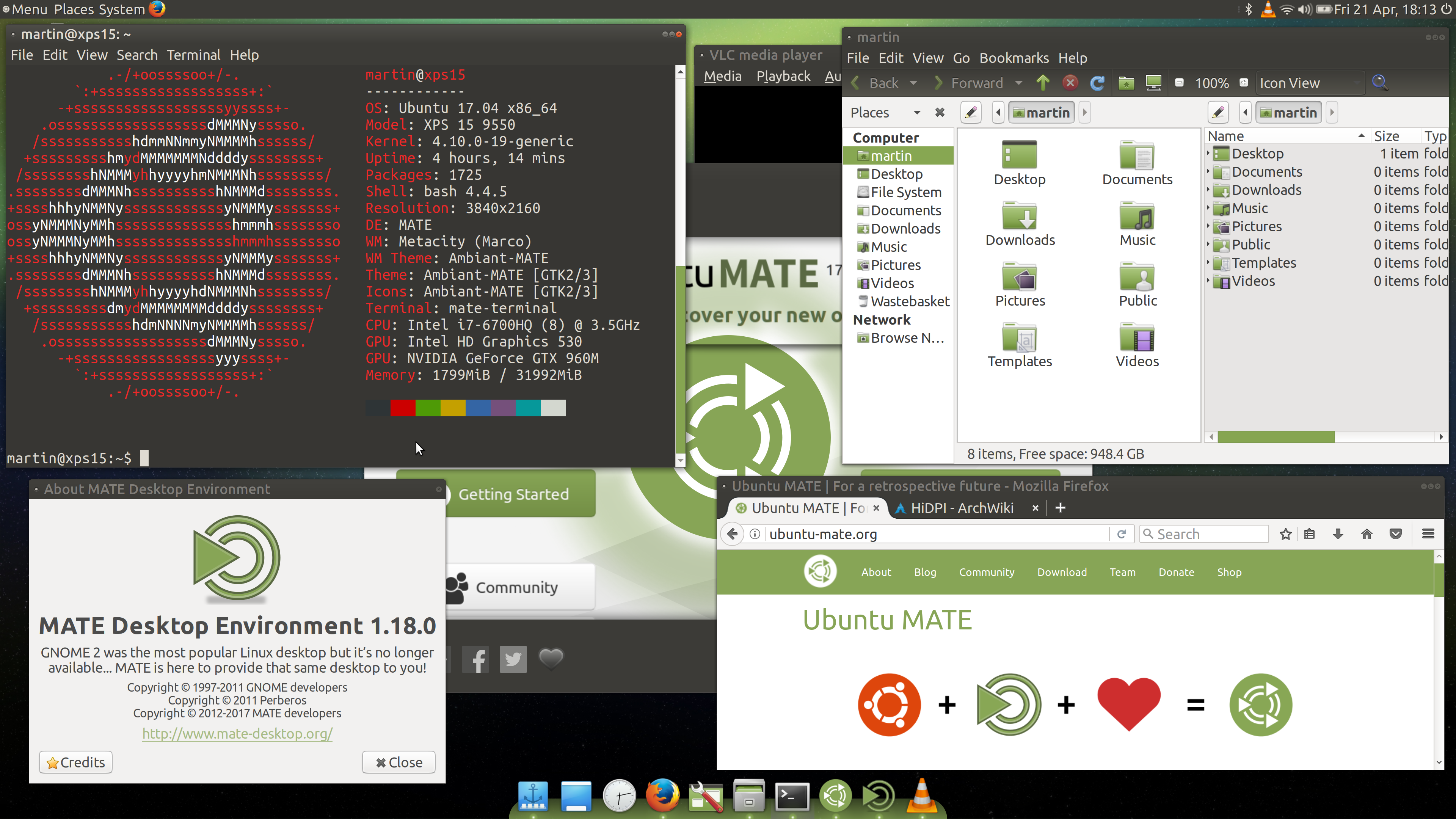 Ubuntu MATE HiDPI - First Steps - Screenshots - Ubuntu MATE