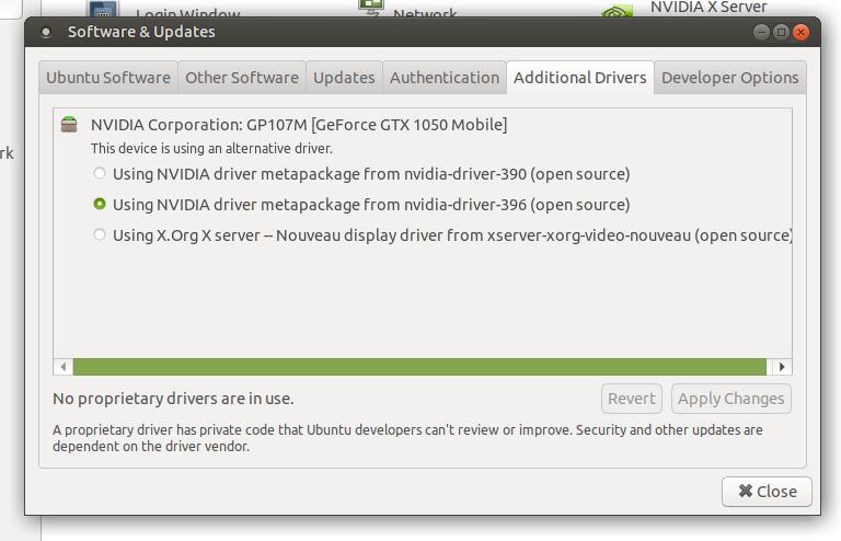 Installing Nvidia-396 on Ubuntu Mate laptop - Hardware - Ubuntu MATE