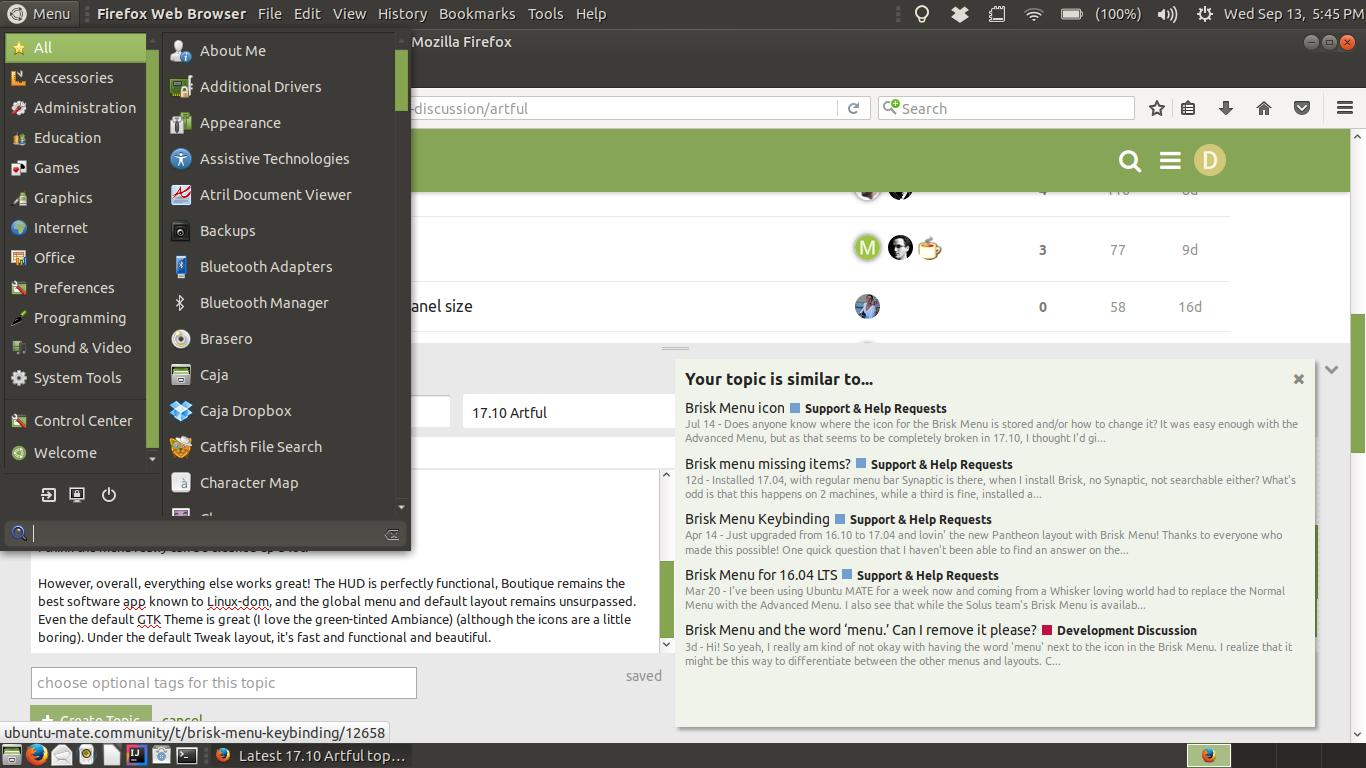 Brisk Menu Cleanup - Development Discussion - Ubuntu MATE Community