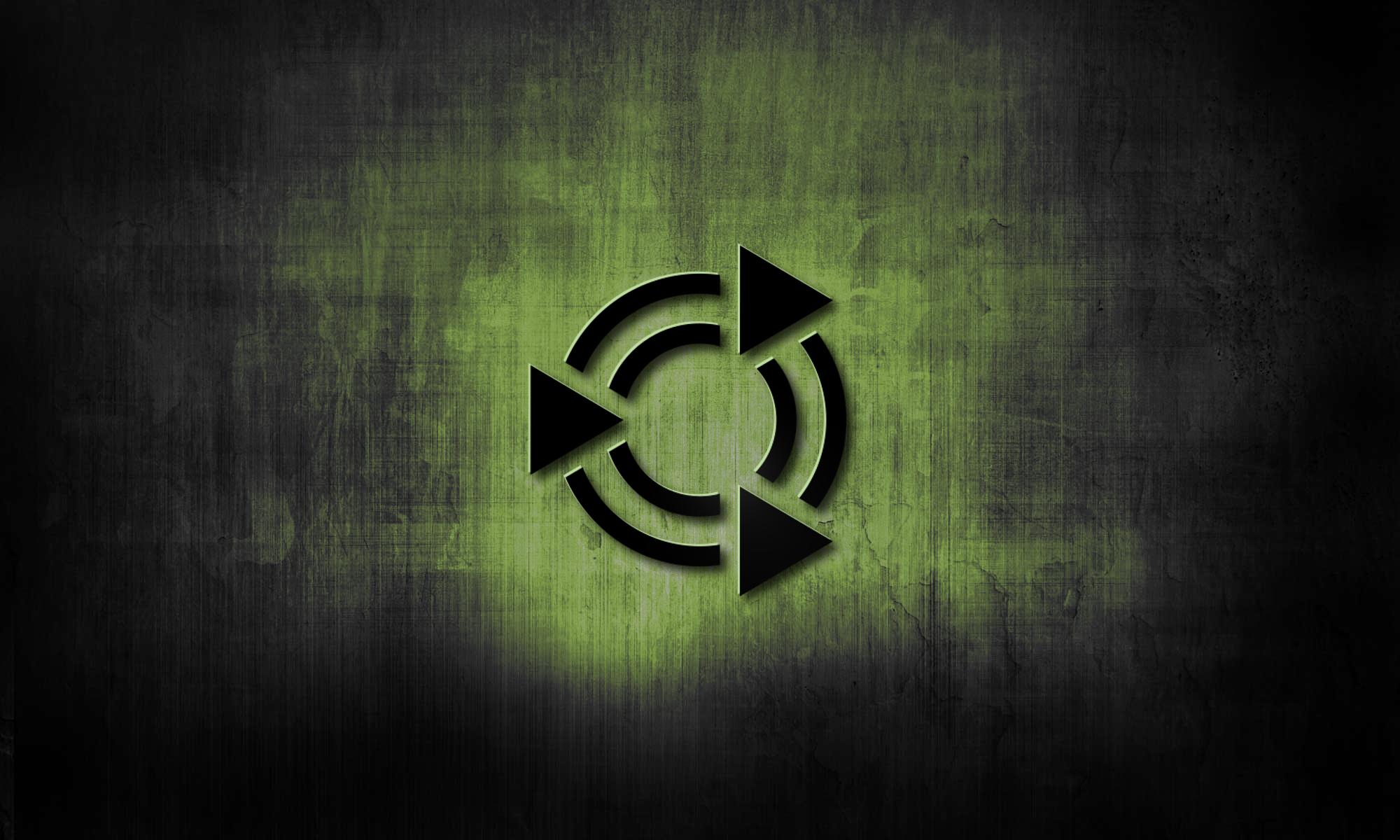 black metal wallpaper with ubuntu-mate logo
