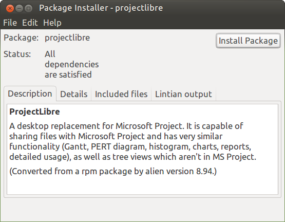 How to install ProjectLibre (a professional grade Project