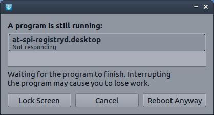 Program not rsponding to reboot or shutdown - Support & Help