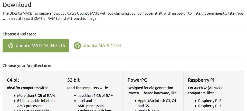 Where could I find an armhf build of ubuntu mate 16 04 2