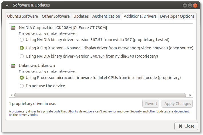 Cannot install Nvidia drivers due to unmet dependencies, broken