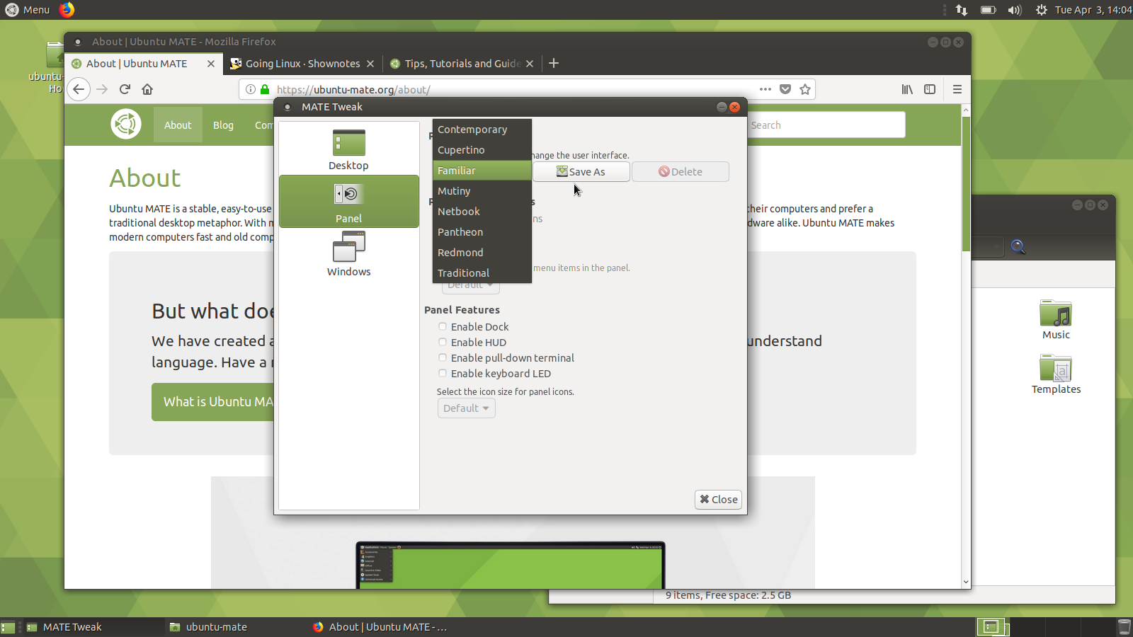 Choosing and Changing Panel Layouts: Ubuntu MATE 18 04 - Tutorials