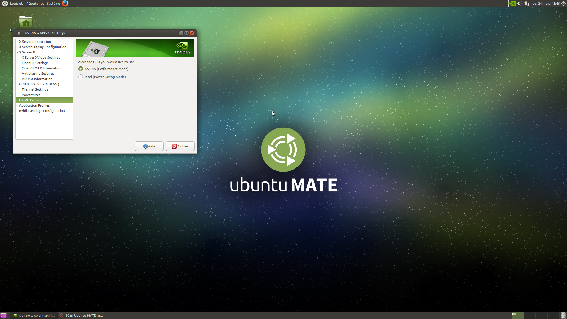 Ubuntu MATE both Onboard Graphics + Discrete Card ? Optimus, tearing