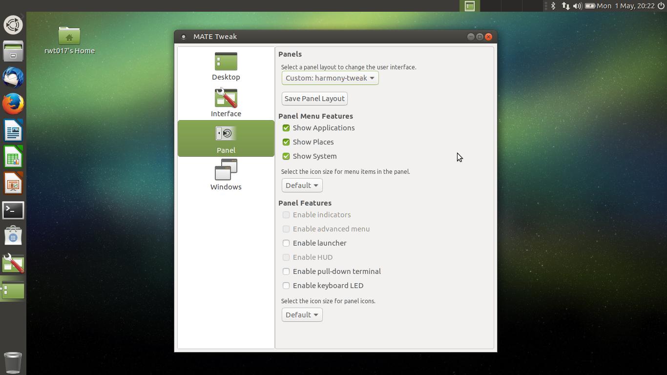 Harmony desktop