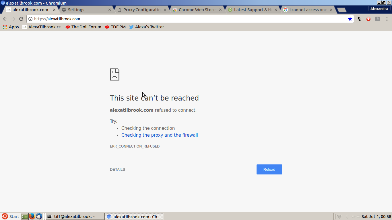 Error accessing website    NO browsers can while - Support & Help