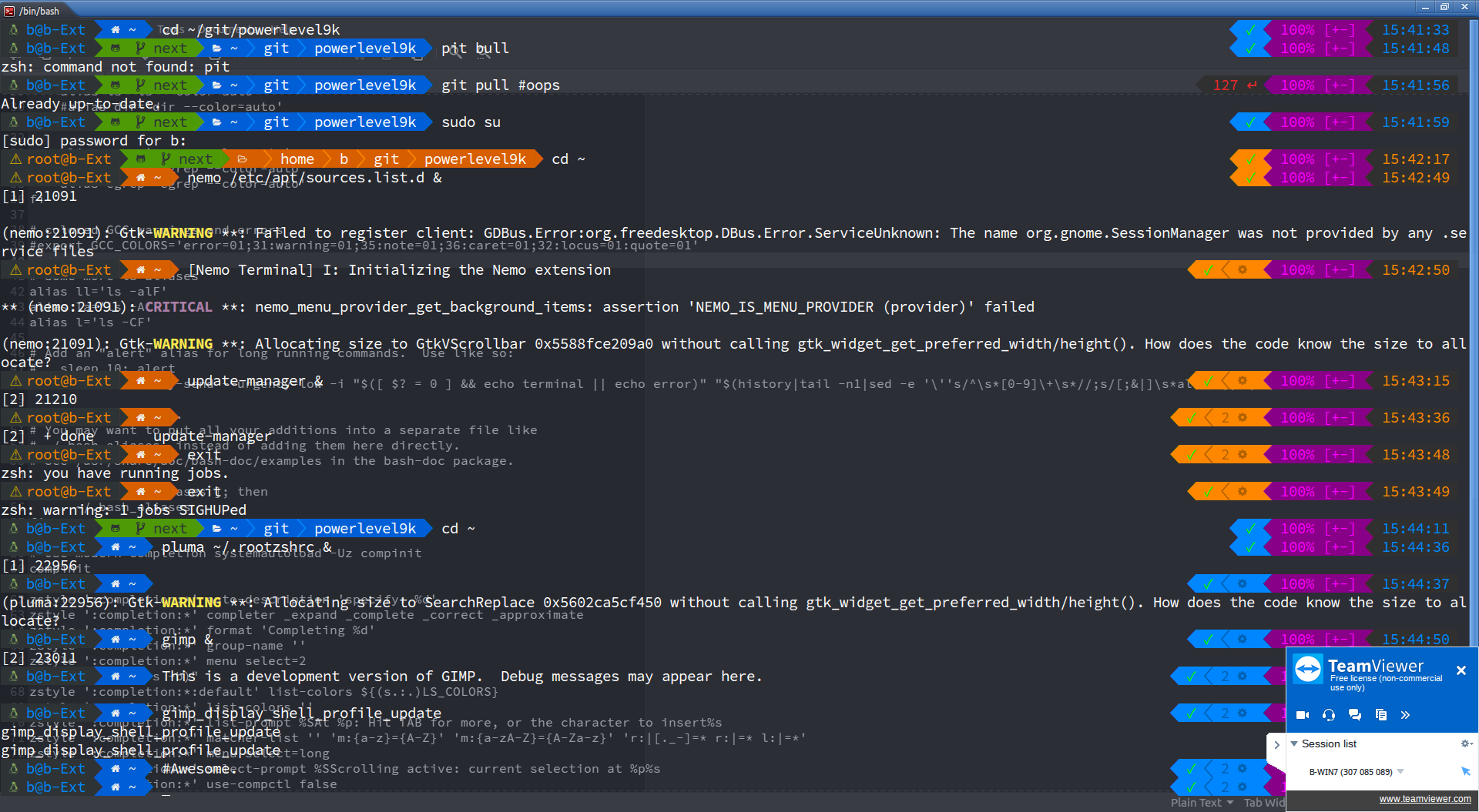 Fscking about with ZSH, PL9K and nerd-fonts - Ubuntu MATE Community