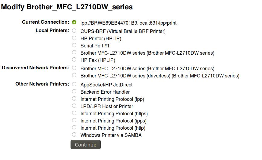 Assistance on getting Brother printer to work - Hardware - Ubuntu