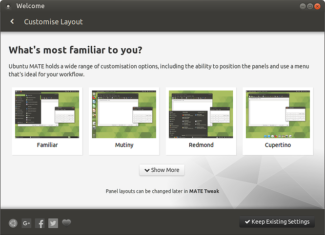 Choosing and Changing Panel Layouts: Ubuntu MATE 18 04