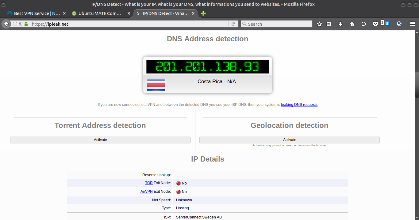 DNS Leak with Nord VPN - Support & Help Requests - Ubuntu MATE Community