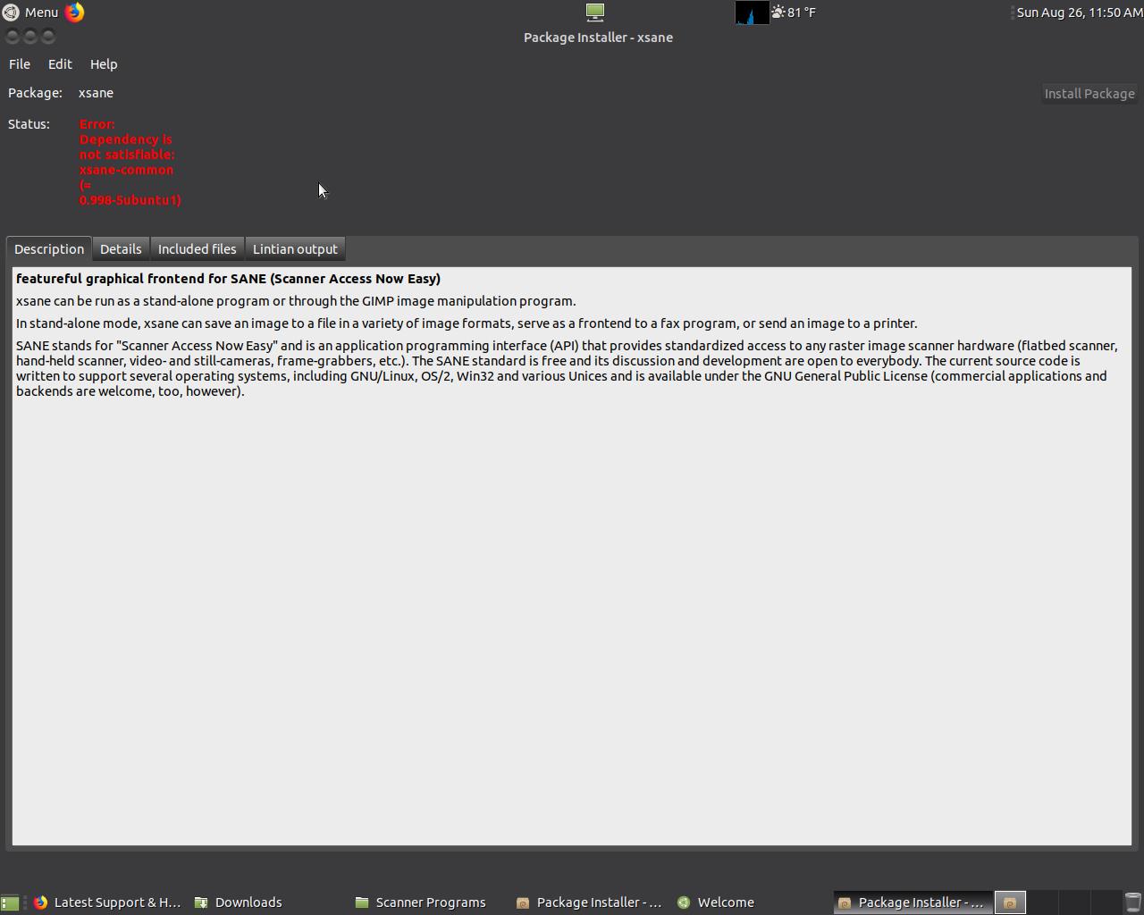 XSANE install problem - Support & Help Requests - Ubuntu