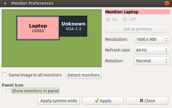Ubuntu detects two monitors when there is only one (nvidia