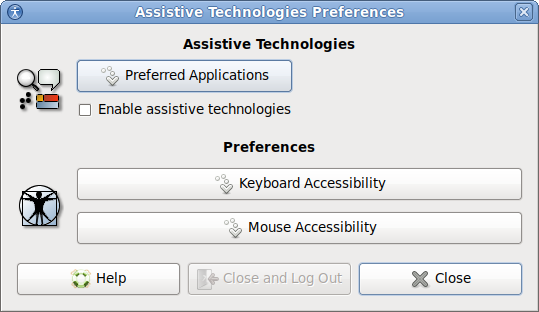 MATE Accessibility Preferences